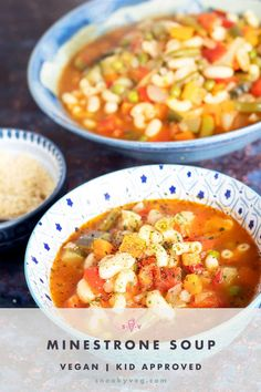 This vegetable minestrone soup recipe is delicious and is packed full of vegetables. It's really versatile and you can change the vegetables listed below for pretty much anything you have available. It's also suitable for vegans. #minestrone #minestronesoup #vegetarianminestrone Vegetarian Minestrone Soup, Vegetarian Dinners, Vegetarian Recipes, Vegan Meals, Hidden Vegetable Recipes, Hidden Vegetables, Vegetable Seasoning, Healthy Eating For Kids, Vegans