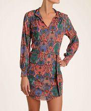 date night! Sweet Pea Printed Mesh Shirt Dress