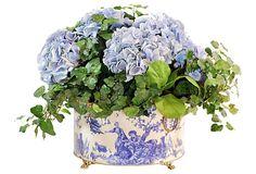"20"" Hydrangea in Tin Planter on OneKingsLane.com"