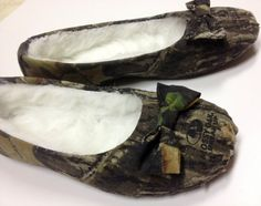 Camo moccasin flats by VictoryClothing on Etsy, $30.00