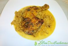 Receta de pollo caribeño | ConDosCucharas.com Main Dishes, Side Dishes, Meat, Chicken, Food, Chicken Recipes, Sweet And Saltines, Dishes, Main Course Dishes