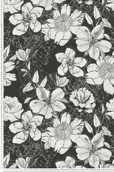 Urban flower noir - Collection Urban flowers d'AS Création