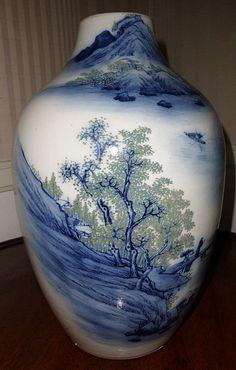 Beautifully patterned antique china vase.