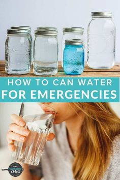 The simple task of Canning Water is great for emergency preparedness, power outages, or when you need access to sanitized water. Learning how to can water is a low-cost way to supplement your family's drinking water needs. Prepper Food, Survival Food, Emergency Preparedness, Survival Tips, Canning Rack, Canning Supplies, Water Bath Canning, Can You Can, Pantry Essentials