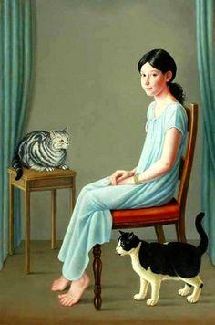 Brigid Marlin (b.1936) — Jessica, Jupiter and Jaspar (529×800)