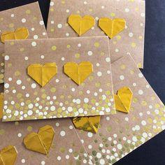 Origami Heart Card | by licca-kikuchi Origami Heart, Heart Cards, Etsy
