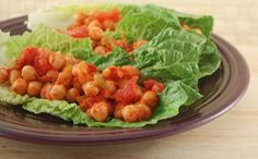 Happy Herbivore Salsa Chickpea Lettuce Wraps. I making these in our vacation condo... Thanks Lindsey!