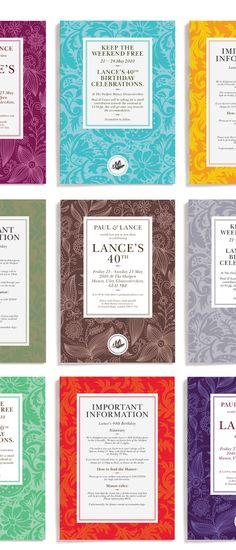 Leterme Dowling designs #typography #design #pattern #invitation #color #birthday