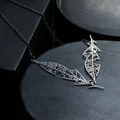moorigin / Skeleton Leaf Pendant D Silver