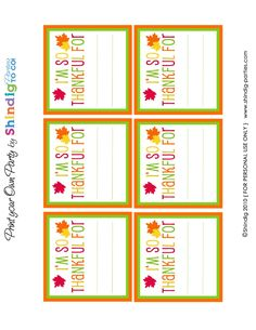 Thanksgiving printables for kids