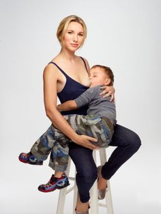 "Jamie Lynne Grumet of Los Angeles and her son, age 3.    ""I don't consider breast feeding immodest at all—I'm not shy about doing it in public.""    Read more: http://lightbox.time.com/2012/05/10/parenting/#ixzz1uUiToFNz"