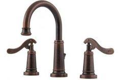 "Pfister GT49-YP0U Ashfield Rustic Bronze 8-15\"" Widespread Bath Faucet with Pop-Up"