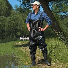Bob thought $799 was a ridiculous price for waders and decided to make his own out of two garbage bags.