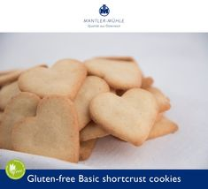 For all of you looking for the perfect Valentine's gifts - check our heart-shaped cookies recipe and make the Gluten-free Basic shortcrust cookies Gluten Free Cookies, Gluten Free Baking, Gluten Free Recipes, Heart Shaped Cookies, Shortcrust Pastry, Tray Bakes, Cookie Recipes, Breakfast, Glutenfree
