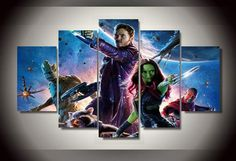 Style Your Home Today With This Amazing 5 Panel Guardians Of The Galaxy Framed Wall Art Canvas For $44.00  Discover more canvas selection here http://www.octotreasures.com  If you want to create a customized canvas by printing your own pictures or photos, please contact us.
