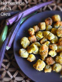 How to make homemade Fried Okra.  #okra Recipe from CopyKat.com