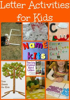 Over 15 Letter Activities for Kids -- lots of fun ways for children to learn the alphabet