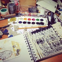 Sketchbook Peeks #unrulyclothcanvas  .. Intuited Narrative- Art @ milliande.com