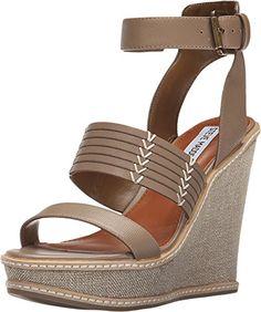 ff5537edd2 Steve Madden Womens Dima Taupe Sandal 85 M >>> This is · Taupe SandalsPlatform  Wedge ...