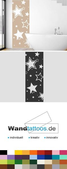 Wandbanner Sterne als Idee zur individuellen Wandgestaltung. Einfach Lieblingsfarbe und Größe auswählen. Weitere kreative Anregungen von Wandtattoos.de hier entdecken!