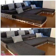 sofa de paletes - Pesquisa Google