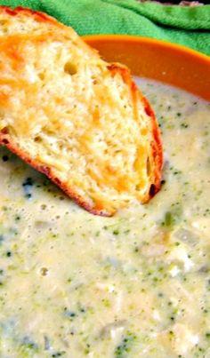 Creamy Chicken Broccoli and Cheese #Soup recipe