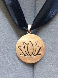 Anna Coronation Lotus Gold Pendant Frozen by LairOfTheSeamstress, $35.00