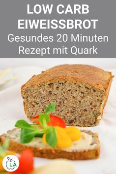 Low Carb Eiweißbrot Rezept - Gesund backen mit Quark Our low carb protein bread is made with curd an Healthy Bread Recipes, Healthy Breakfast Recipes, Healthy Baking, Low Carb Recipes, Snack Recipes, Diet Breakfast, Protein Bread, Low Carb Protein, Healthy Protein