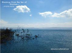 Blessings from the Sea of Galilee...#TravelToIsrael #LoveIsrael www.artsncraftsisrael.com