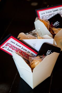 Chinese Takeout Container | 24 Cute And Clever Ways To Give A Gift Card