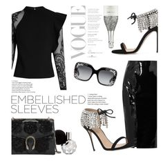 """""""Glimmer"""" by lisalockhart ❤ liked on Polyvore featuring self-portrait, Topshop Unique, Giuseppe Zanotti and Gucci"""