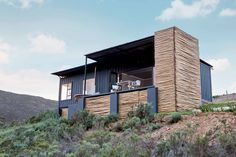 Take in the South African Countryside in This Shipping Container Eco-Cabin - Dwell #rental #vacation #cabin #shippingcontainer