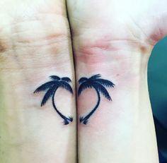 Estes em forma de coração palmeiras