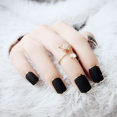 Find More False Nails Information about New Black Fashion Gold Metallic False Nails Press On Nails French Acrylic Nail Tips With Glue 10 sizes,High Quality nail finger,China nails green Suppliers, Cheap nail polish colour chart from YOUNG JILL CO.,LTD on Aliexpress.com