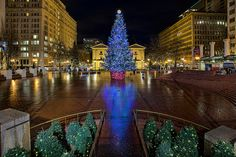 Christmas at Pioneer Courthouse Square 2 - HDR by David Gn Photography, via Flickr
