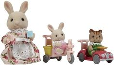 Calico Critters Apple & Jake's Ride n Play - Free Shipping