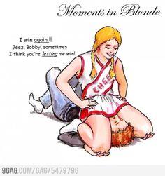 Blonde joke sex