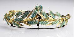 Wheat Tiara (19th c.; turquoises, gold).
