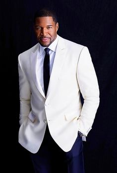 Michael Strahan in the August issue of Ebony Magazine