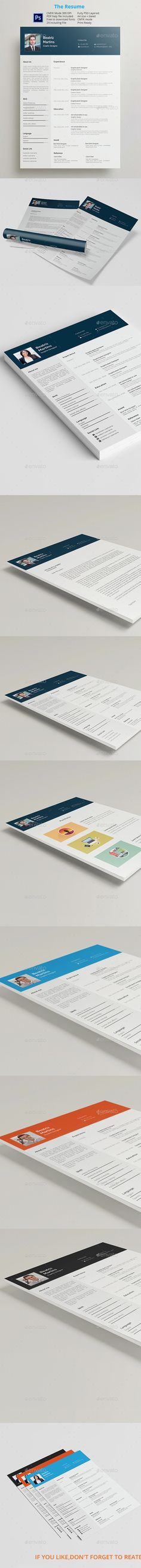 #Resumes #Templates - Resumes #Stationery Download here: https://graphicriver.net/item/resumes-templates/11147529?ref=artgallery8