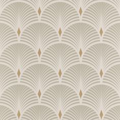BAKER wallpaper, vinyl on non-woven graphic, gray and gold - deco Wallpaper Art Deco, Graphic Wallpaper, Grey Wallpaper, Bathroom Wallpaper, Pattern Wallpaper, Modern Wallpaper, Vinyl Wallpaper, Motif Art Deco, Art Deco Pattern