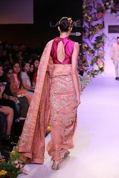 Designer: Shyamal & Bhumika Beautiful sari! Love the soft rose color!