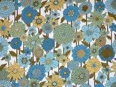 Genuine 1970s Flower Power Wallpaper by PassionForVintage, via Flickr
