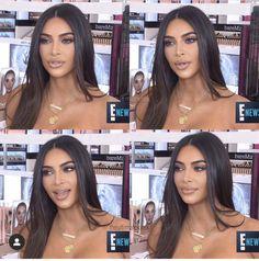 Kim Kardashian Kylie Jenner, Kardashian Style, Kim K Makeup, Hair Makeup, Makeup Eyes, Kim And Kylie, Gorgeous Makeup, Perfect Makeup, Makeup Looks