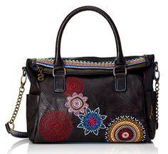#Desigual Tasche - Modell Bols Loverty Amber. Muster: Mandala, schwarz.