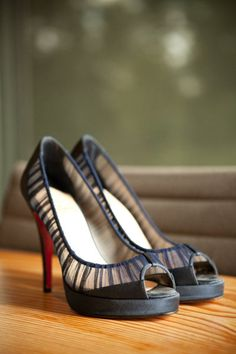 Gorgeous navy blue heels. Photography by http://angelaandevan.com / Shoes by http://christianlouboutin.com/