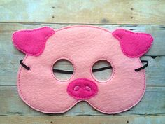 Pig Felt Mask by lilliannamarie on Etsy