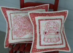 """Grandma Pillows"" Stitchery Blog Hop   Little Pieces of My Life"