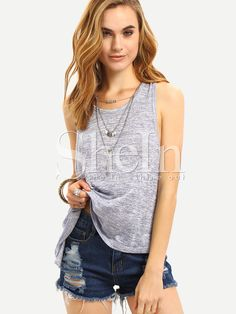 Shop Grey Criss Cross Back Tank Top online. SheIn offers Grey Criss Cross Back Tank Top & more to fit your fashionable needs.
