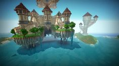 Minecraft - Many players absolutely love building in the sky, and that's exactly what Legends of Mythica demonstrates. http://www.pcgamesn.com/minecraft/10-best-minecraft-adventure-maps